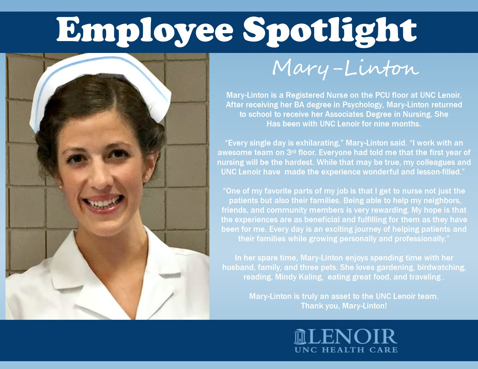 National Nurses Week Meet Mary-Linton